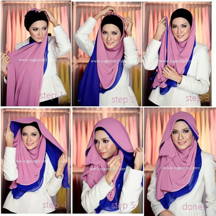 Two tone hijab tutorial!!!