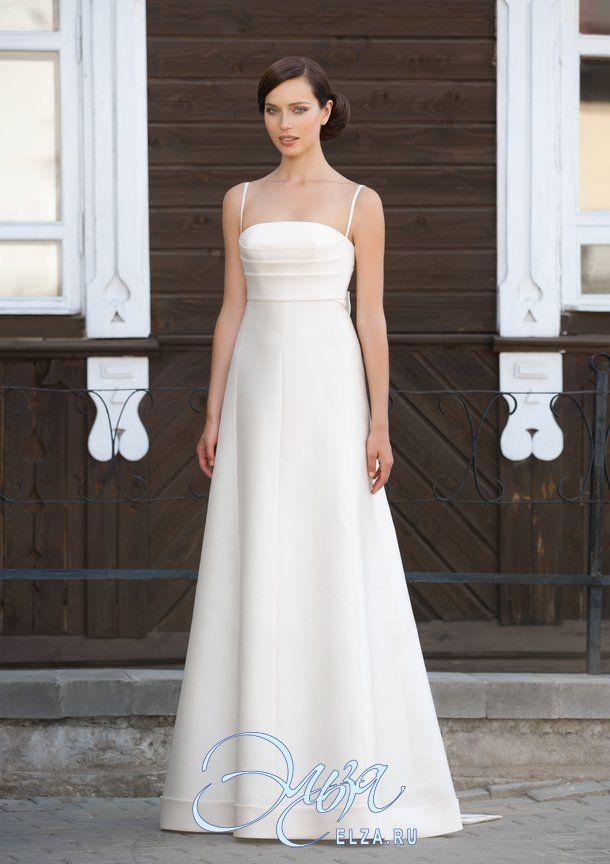 Cвадебное платье Анданте: а-силуэт, винтажный стиль, длинное платье, с непышной юбкой, со шлейфом, модель до 2016 года, без рукавов, платье, в ограниченном количестве, подходит высоким, узкие бретельки