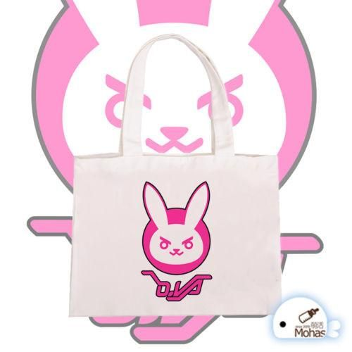 Overwatch Dva Canvas Over The Shoulder Tote Bag - AFK eSport Store