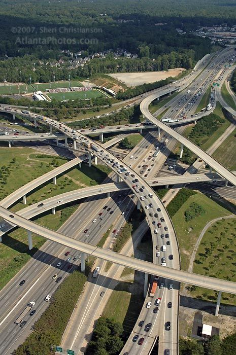Spaghetti Junction…if you can drive in Atlanta you can drive anywhere.
