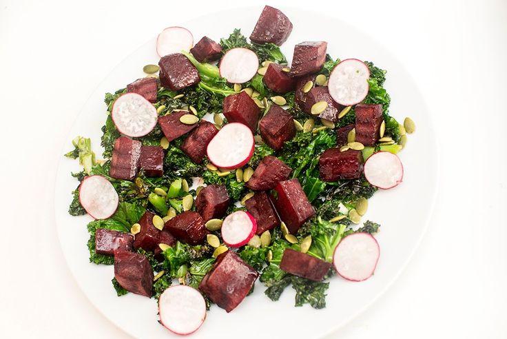 vegansk rødbetesalat med grønnkål