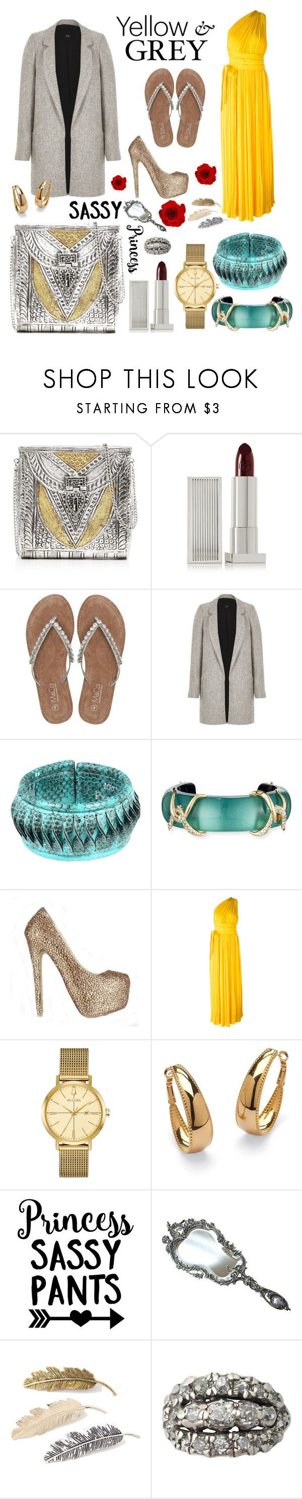 """""""Heelprints In The Sand... Empire Princess travelling European beaches in casually elegant style."""" by lanaspreco ❤ liked on Polyvore featuring From St Xavier, Lipstick Queen, M&Co, River Island, Alexis Bittar, Dsquared2, Bulova and Palm Beach Jewelry"""