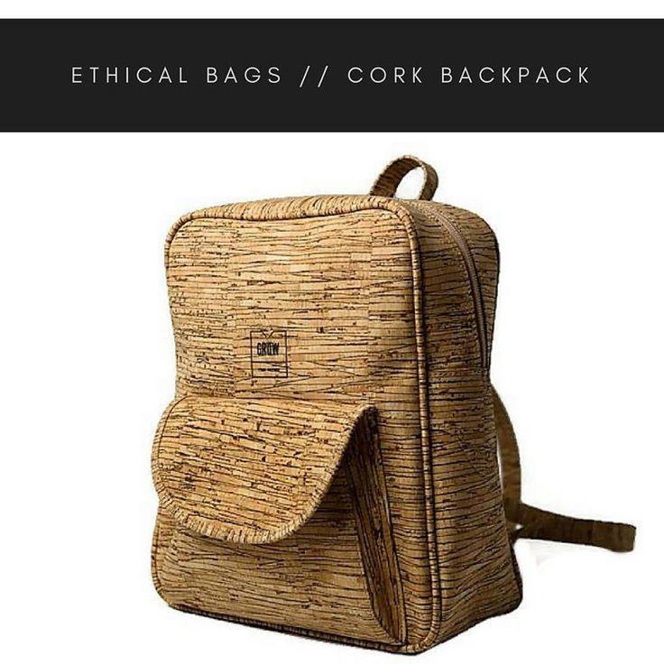 Your Vegan Choice! • This backpack is made from 100% Cork • Waterproof soft and durable • Lightweight • Cruelty free • Eco and sustainable product