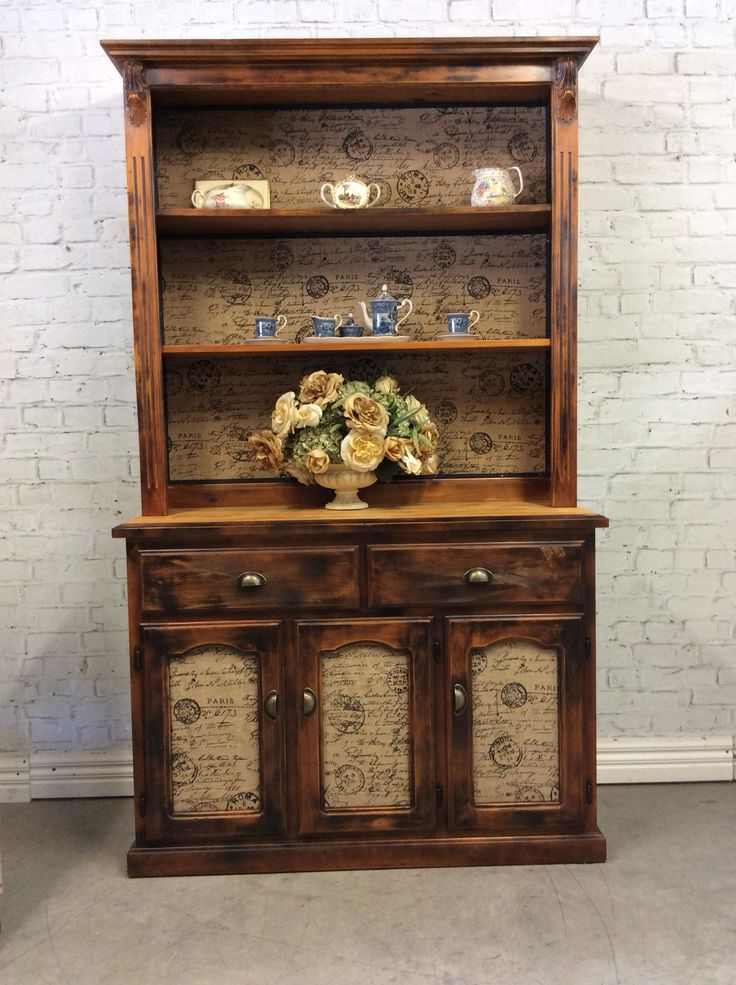 Reclaimed french provincial Industrial style kitchen dresser buffet hutch