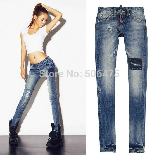 Find More Jeans Information about Hot 2014 fashion DSQ brand women's jeans casual denim skinny sexy feet pencil pants washed cheap women's D2 jeans  free shipping,High Quality d2 mp3,China jeans for big thighs Suppliers, Cheap jeans finishes from H