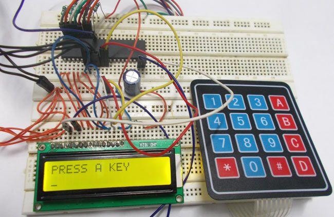 4x4 Keypad Interfacing With Avr Microcontroller  Atmega32