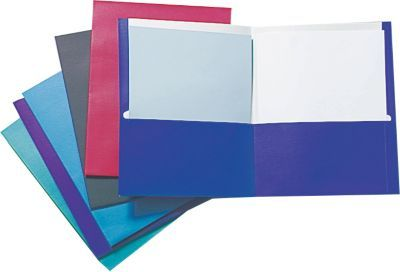 Staples 2-pocket folders to store all of the excellent completed work. #LanceBacktoSchoolChecklist