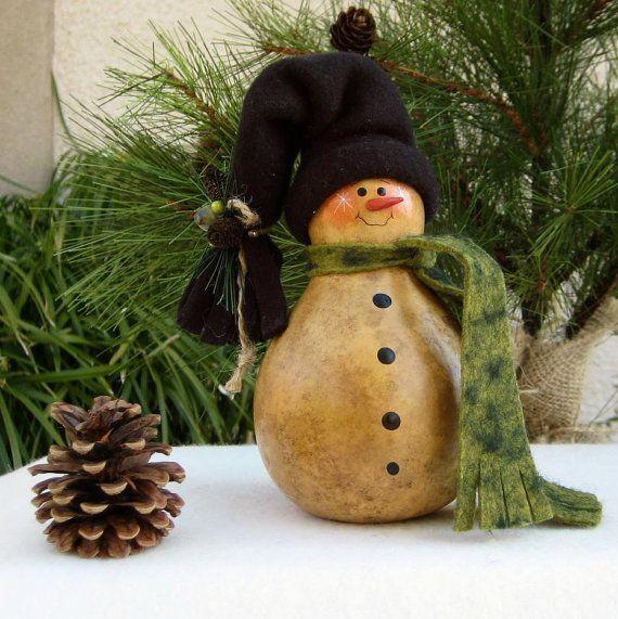 gourd snowman   Gourd snowman   Christmas!