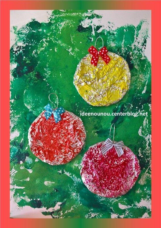Boules Brillantes Iarna Pinterest Craft