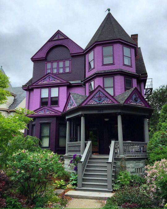 Erstaunliche Häuser, Traumhäuser, Große Häuser, Puppenhäuser,  Viktorianische Architektur, Architektur Innenarchitektur, Purple Home,  Arquitetura, ...