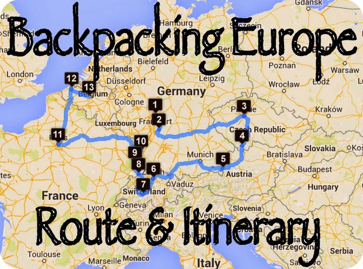 how to go backpacking in europe