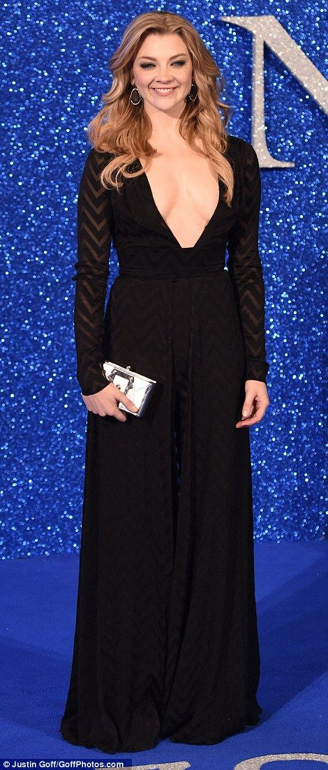 Showing some skin: Game Of Thrones star Natalie Dormer took the plunge in a very low-cut b...