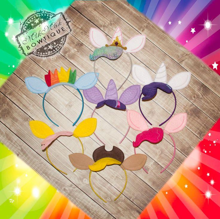 MLP Headband, My Little Pony Headband, Cosplay, Princess Celestia, Rainbow Dash, Fluttershy, Twilight Sparkle, Rarity,Apple Jack, Pinkie Pie by MikMakBowtique on Etsy https://www.etsy.com/listing/206995311/mlp-headband-my-little-pony-headband