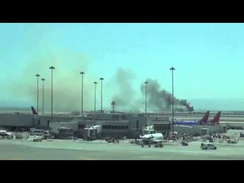 SFO Plane Crash Asiana Airlines Flight 214 Boeing 777 (Raw Eyewitness Vi...
