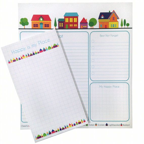 Happy is my Place  Set of 2 Notepads by SchwarzieTM on Etsy, $20.00