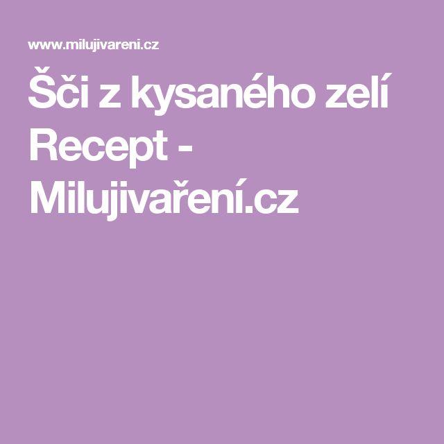 Šči z kysaného zelí Recept - Milujivaření.cz