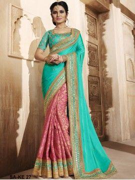 Rama Color Saree