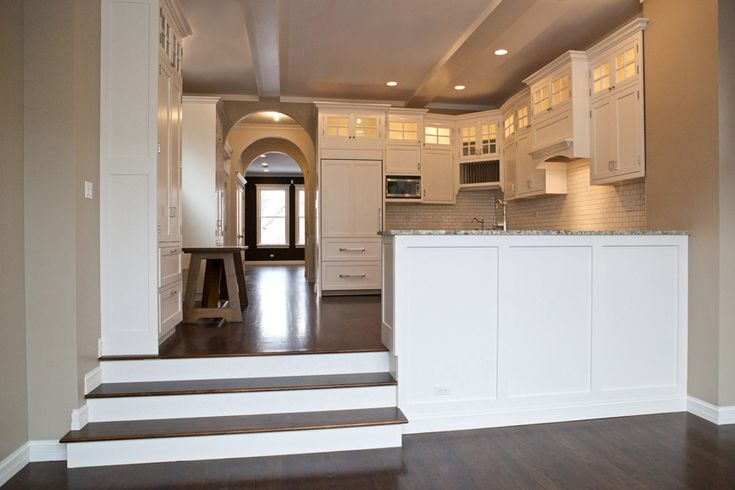 Small Kitchens Built For Entertaining Open Concept Kitchen Lets Light Travel Through Opening