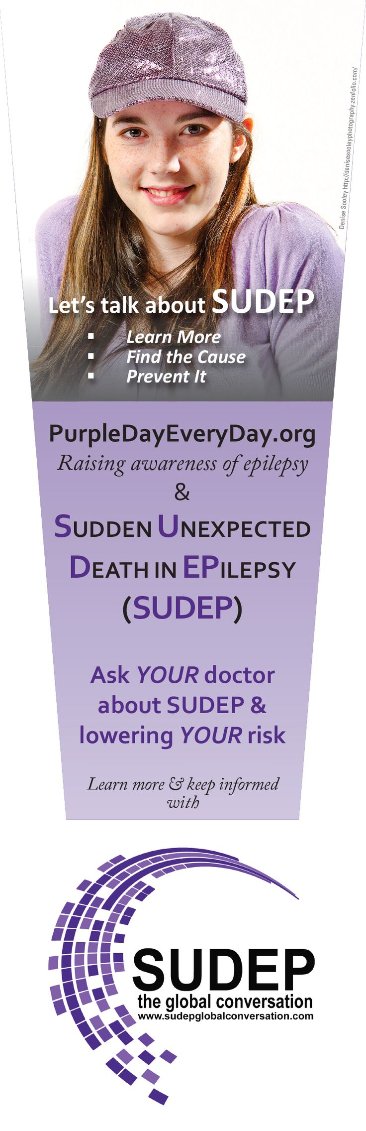 New Purple Day bookmark re SUDEP