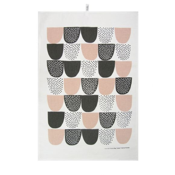 MUTED COLOURS: Sokeri tea towel in pink. Shop now at www.hardtofind.com.au