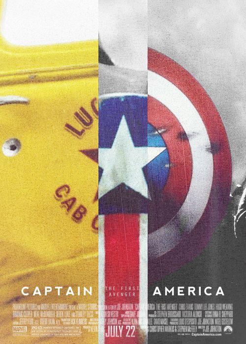 alternate poster: captain america the first avenger