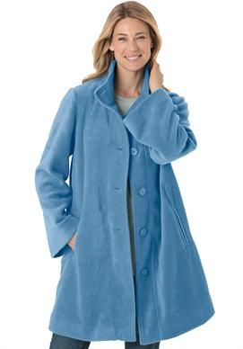 Jacket Swing Style In Cozy Fleece Plussize Coats From