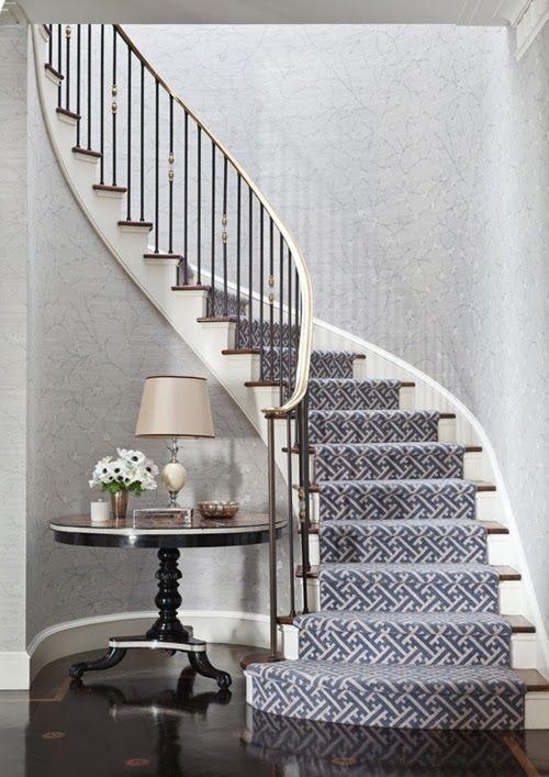 On My Mind: Design Details LUV stair runner by Markham Roberts http://markhamroberts.com/