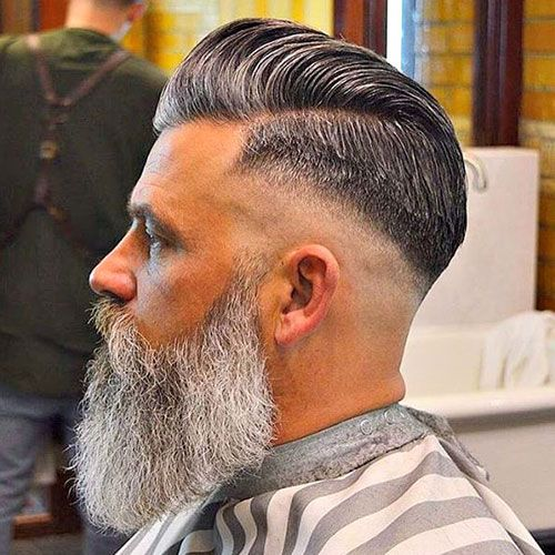 Mid Skin Fade with Side Part