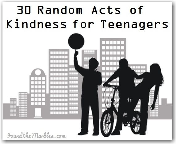 30 Random Acts of Kindness for Teens I had no idea that browse for a cause or a link that donates everytime someone clicks on it existed