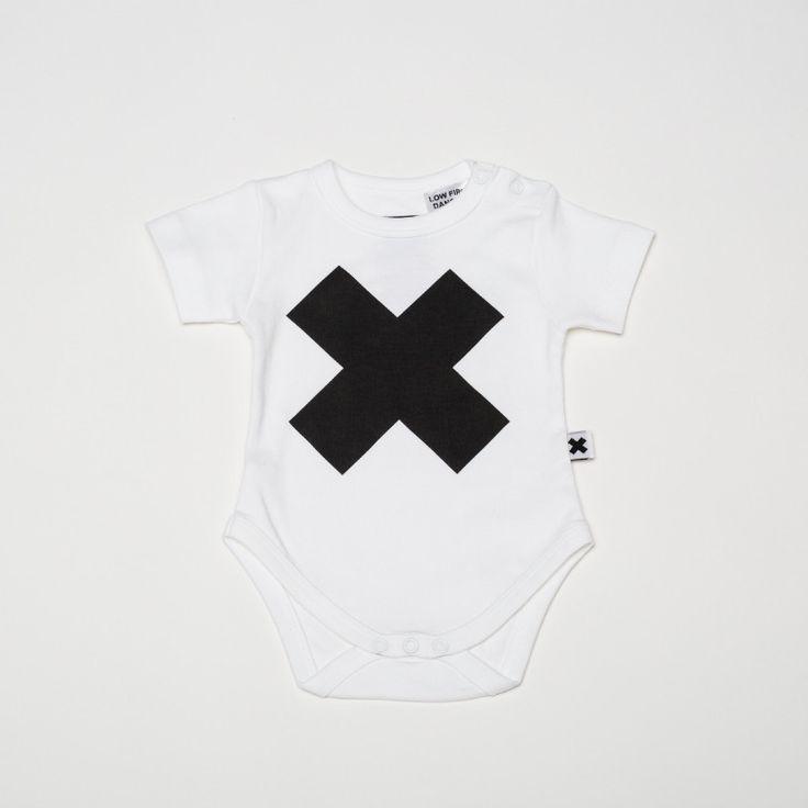 Wear Kids Play - Huxbaby | X White Onesie, $39.95 (http://www.wearkidsplay.com.au/products/huxbaby-x-white-onesie.html/)