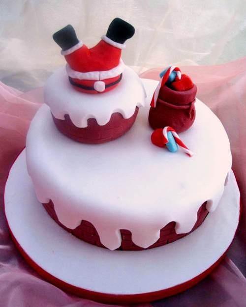 santa stuck in the chimney cake!