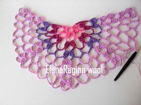 ElenaRegina wool: Scialle da collo orchidea del deserto