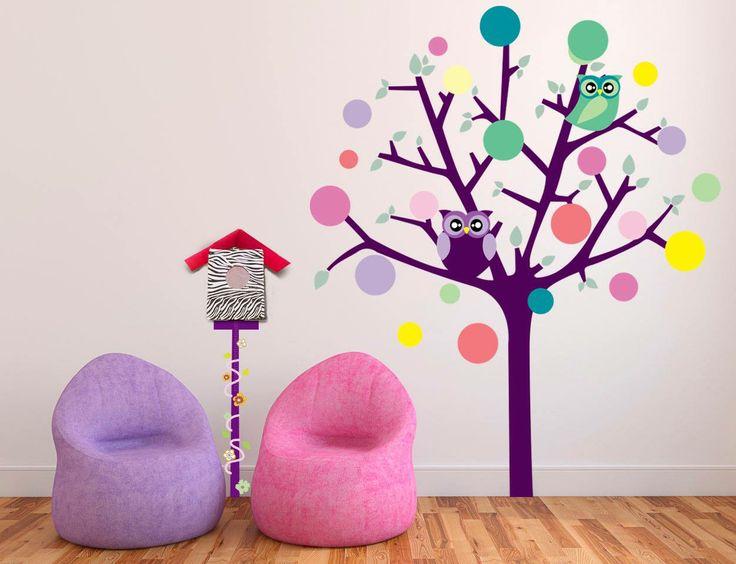 #bebes #ninos #decoracion #vinilos #buho #kids #compra #online #ecommerce http://www.regalosdirecto.com.mx