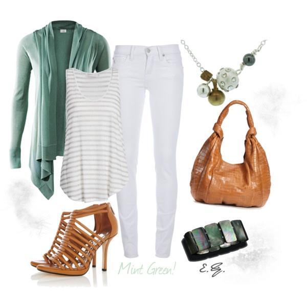 Mint Green: White Skinny Jeans, Green Cardigans, Outfits Mint, Mint Green Outfits, Outfits Ideas, Closet, Brown Boots, White Jeans, Mint Green Want