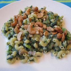 Pasta met spinazie en boursin