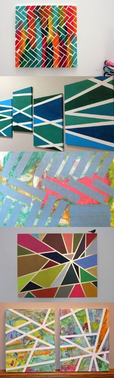 1000 ideas about tape painting on pinterest diy canvas for Creative things to do with paint