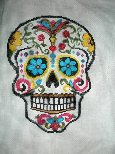 Day of the Dead Cross Stitch (although i hated cross stitching...I'd love to try this one!)