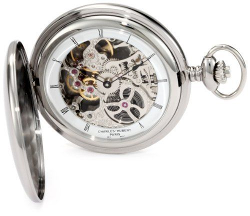 Charles-Hubert, Paris 3905-W Premium Collection Stainless Steel Polished Finish Hunter Case Mechanical Pocket Watch Charles-Hubert, Paris. Save 34 Off!. $216.00. Skeleton Dial. 17 Jewels Mechanical Movement. Deluxe Gift Box. Lifetime Warranty against Manufacturing Defects. Stainless Steel Hunter Case