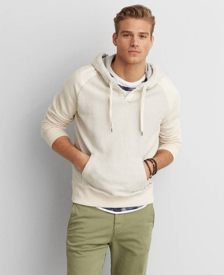 Cream Hoodie Mens - Trendy Clothes