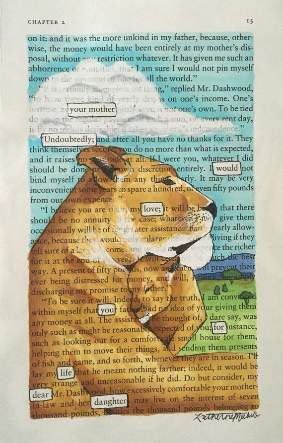 Lioness and her Cub - Blackout Poetry, Art, Artwork, Book ...