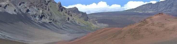 Haleakala National Park - A view of the cinder desert