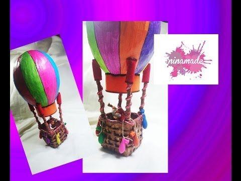 Tirelire montgolfi re en papier m ch mod le faire soi - Montgolfiere en papier ...