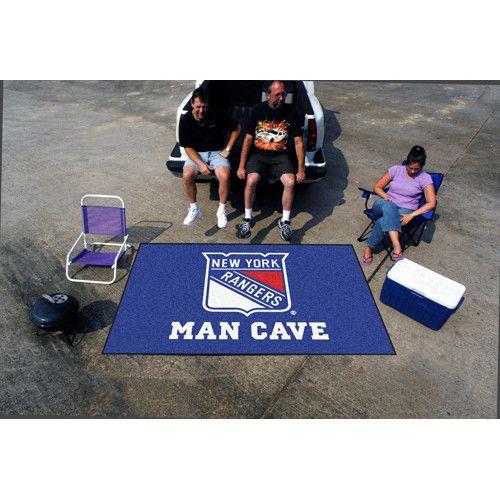 New York Rangers Nhl Man Cave Ulti Mat Floor Mat 60in X