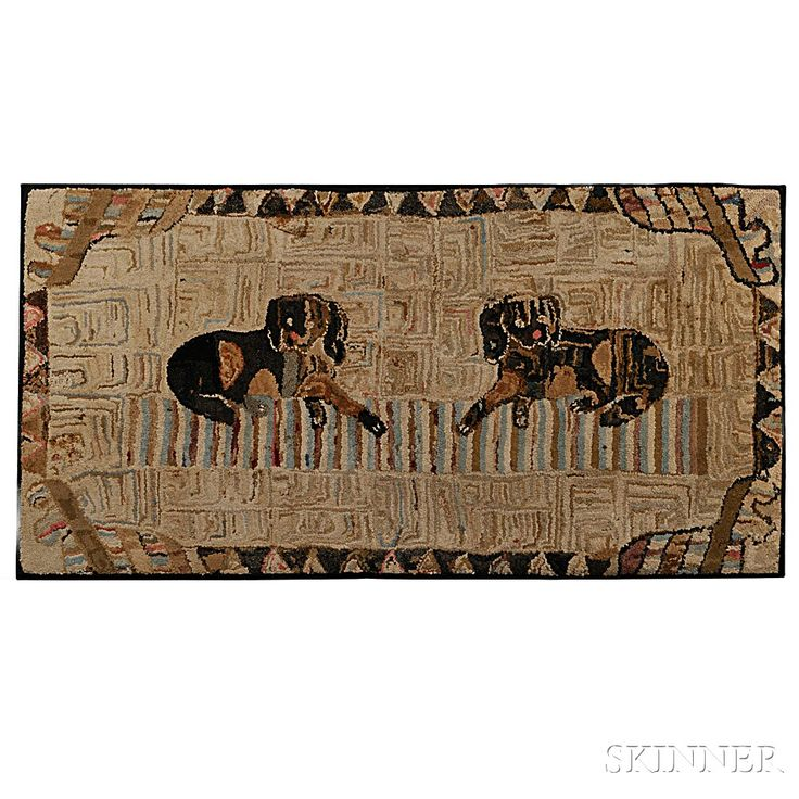 117 Best Images About Old And New Hooked Dog Rugs On