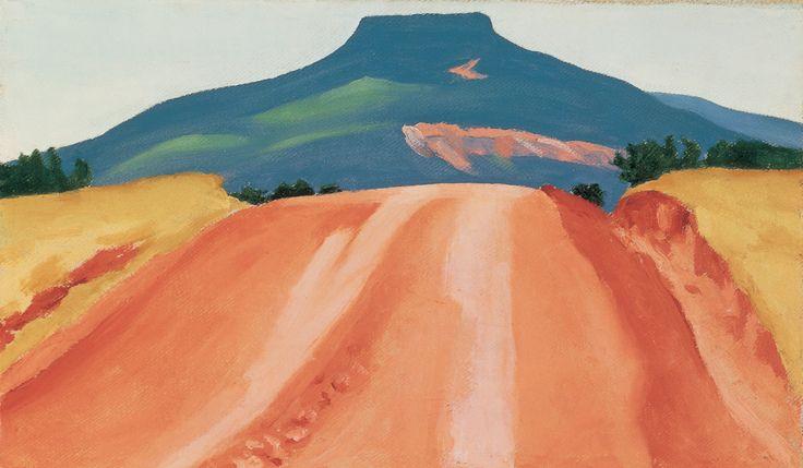 'Road to Pedernal' by Georgia O'Keeffe. Image: Georgia O'Keeffe Museum.