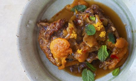 Nigel Slater's braised neck of lamb with apricots and cinnamon, and m ...