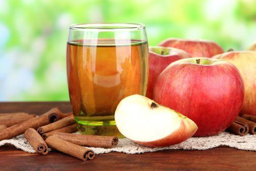Apfelsaft mit Zimt zur Leberreinigung