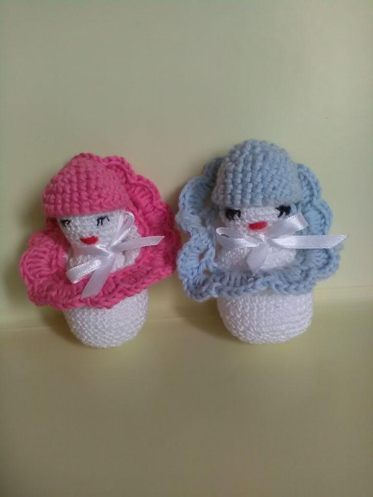 Crochet baby, crochet doll, gift for girl, crochet toy. by Lacasadellafata on Etsy