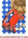 Red Crab Bouys Garden Flag