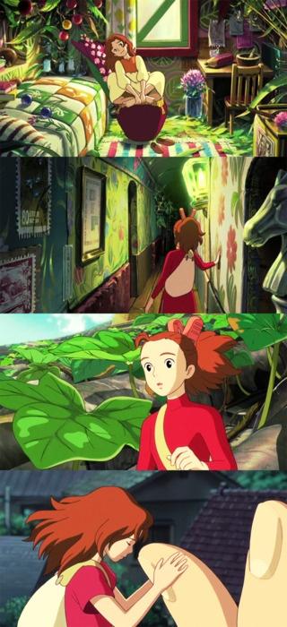 The Secret World of Arrietty, 2010 (dir. Hiromasa Yonebayashi)  By Orph